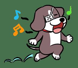Puffy Beagle sticker #7618595