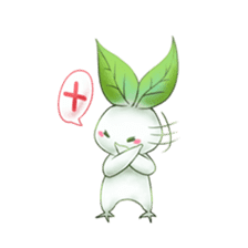 Plant Rabbit sticker #7620050