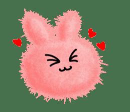 Fluffy balls (2) rabit sticker #7622916