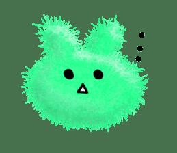 Fluffy balls (2) rabit sticker #7622917