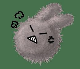 Fluffy balls (2) rabit sticker #7622921
