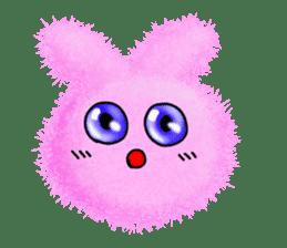 Fluffy balls (2) rabit sticker #7622922