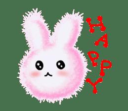 Fluffy balls (2) rabit sticker #7622926