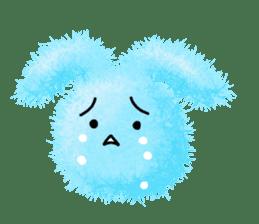 Fluffy balls (2) rabit sticker #7622932