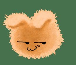 Fluffy balls (2) rabit sticker #7622933