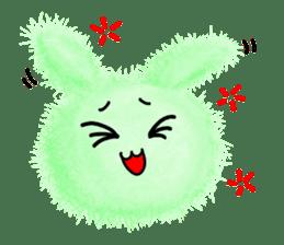 Fluffy balls (2) rabit sticker #7622935