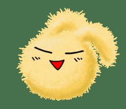Fluffy balls (2) rabit sticker #7622936