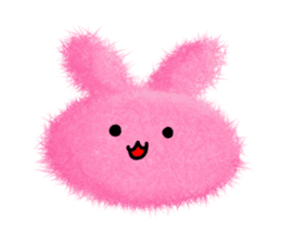Fluffy balls (2) rabit sticker #7622938