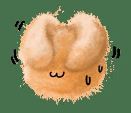 Fluffy balls (2) rabit sticker #7622939