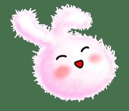Fluffy balls (2) rabit sticker #7622943
