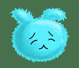 Fluffy balls (2) rabit sticker #7622949