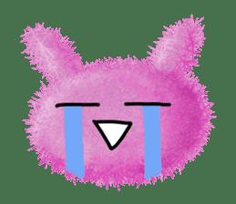 Fluffy balls (2) rabit sticker #7622952
