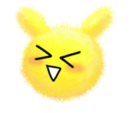 Fluffy balls (2) rabit sticker #7622953