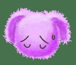 Fluffy balls (2) rabit sticker #7622954