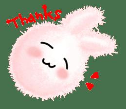 Fluffy balls (2) rabit sticker #7622955