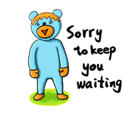 Mr. Aokuma -BlueBear- sticker #7632459