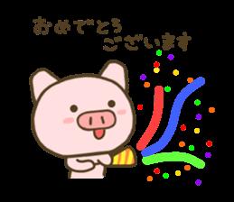 yuru pig yokutukau sticker #7644532