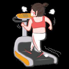Piggy Fit, She loves gym