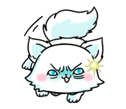 venerable pedigreed Luxury cat! sticker #7657292