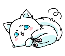 venerable pedigreed Luxury cat! sticker #7657293