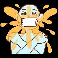 マスクの青男