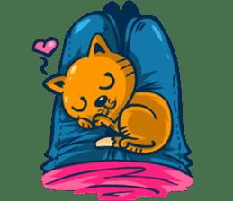 Idiot Cat sticker #7671132