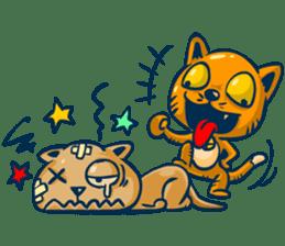 Idiot Cat sticker #7671156