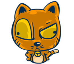 Idiot Cat sticker #7671161