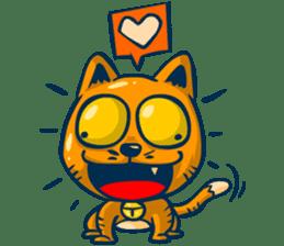 Idiot Cat sticker #7671162