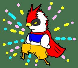 "THE HERO BIRD-MAN ""COKE-KING"" sticker #7682444"