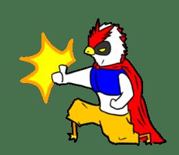 "THE HERO BIRD-MAN ""COKE-KING"" sticker #7682449"