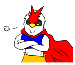 "THE HERO BIRD-MAN ""COKE-KING"" sticker #7682468"