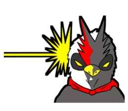 "THE HERO BIRD-MAN ""COKE-KING"" sticker #7682476"