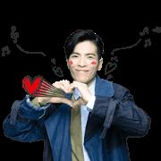 สติ๊กเกอร์ไลน์ Jam Hsiao Animated Music Stickers