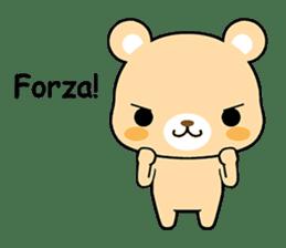 Bear with Italian phrases sticker #7689756