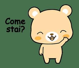 Bear with Italian phrases sticker #7689757