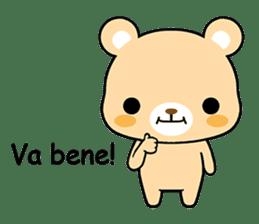 Bear with Italian phrases sticker #7689758