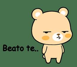 Bear with Italian phrases sticker #7689761