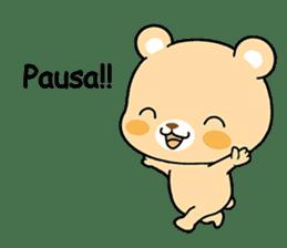 Bear with Italian phrases sticker #7689763