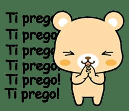 Bear with Italian phrases sticker #7689764