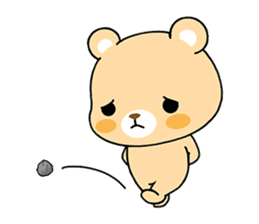 Bear with Italian phrases sticker #7689767