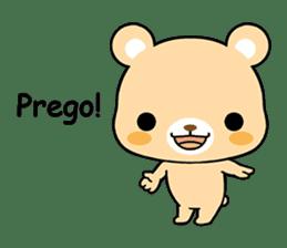 Bear with Italian phrases sticker #7689769