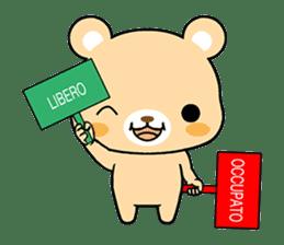 Bear with Italian phrases sticker #7689771