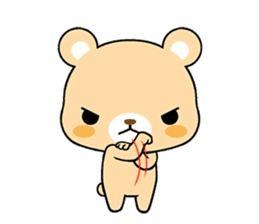 Bear with Italian phrases sticker #7689772