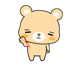 Bear with Italian phrases sticker #7689773
