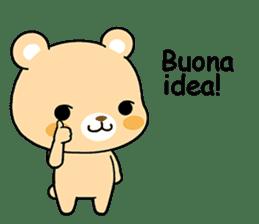 Bear with Italian phrases sticker #7689774
