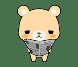 Bear with Italian phrases sticker #7689783