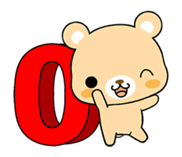 Bear with Italian phrases sticker #7689784