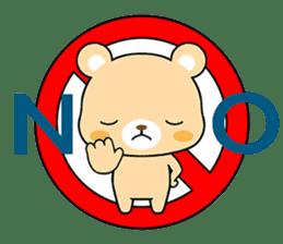 Bear with Italian phrases sticker #7689785