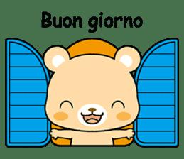 Bear with Italian phrases sticker #7689790